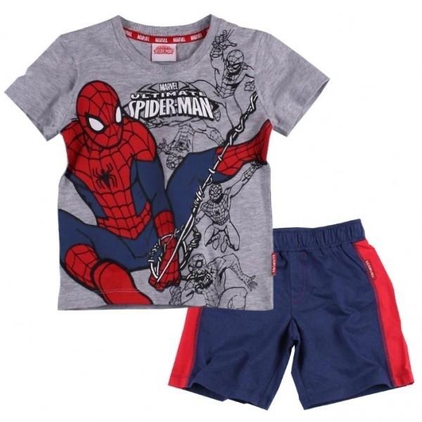 Completo T-shirt e pantaloncino Spiderman