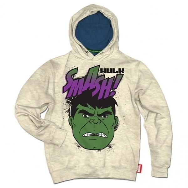 Felpa Bimbo con cappuccio Hulk