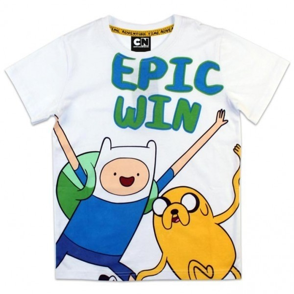 T-shirt manica corta Adventure Time Epic Win