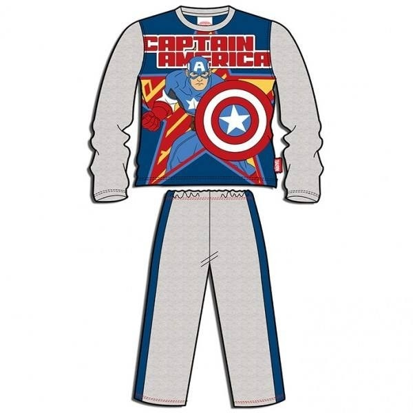 Pigiama manica lunga bimbo Avengers Capitan America