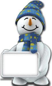 Snowman with Sign sagoma 183 cm H