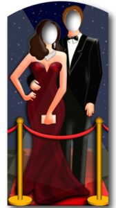 Red-Carpet/ Hollywood Couple Stand In sagoma 186 cm H