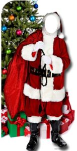 Father Christmas 'Stand-In' sagoma 186 cm H