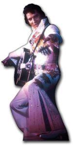 Elvis in White Jump Suit sagoma 155 cm H