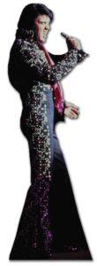Elvis Black Jump Suit sagoma 180 cm H