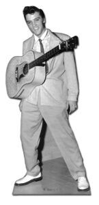 Elvis Guitar hanging from neck sagoma 180 cm H