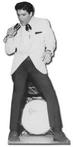 Elvis White Jacket and Drum sagoma 179 cm H