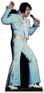 Elvis Blue Jump Suit sagoma 167 cm H