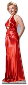 Marilyn Monroe 'Red Gown' sagoma 177 cm H