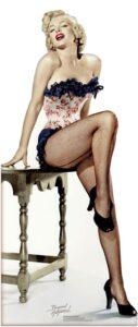 Marilyn Monroe 'Net-stockings' sagoma 175 cm H