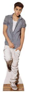 Justin Bieber (Check Shirt) sagoma 178 X 48 cm