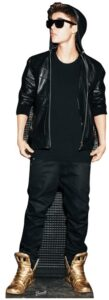 Justin Bieber (Hoodie and Gold Shoes) sagoma 178 X 61 cm