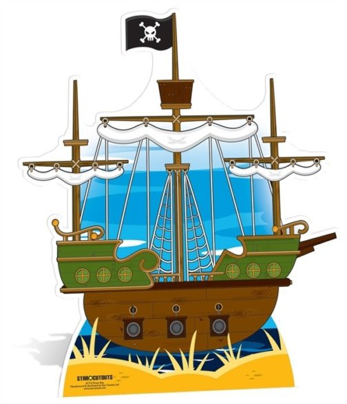 Nave pirata sagoma 120 X 103 cm