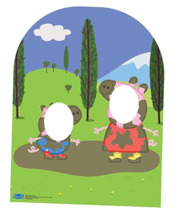 Peppa e George pozzanghere Stand-In sagoma 123 X 94 cm