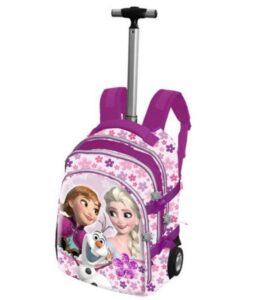 Zaino trolley elementari Disney Frozen Flowers