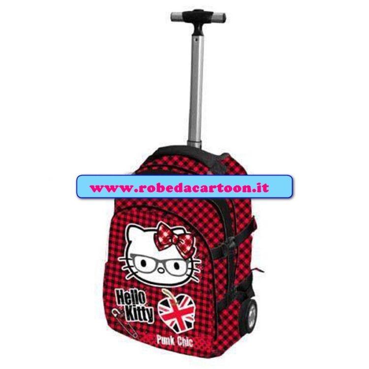 Zaino trolley elementari Hello Kitty Punk Chic