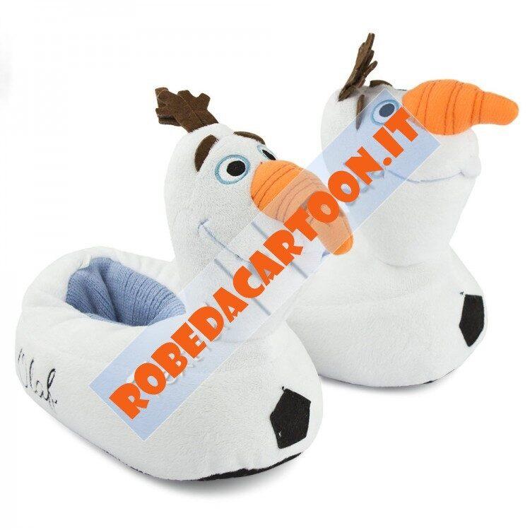 Pantofole peluche Disney Frozen Olaf 3D