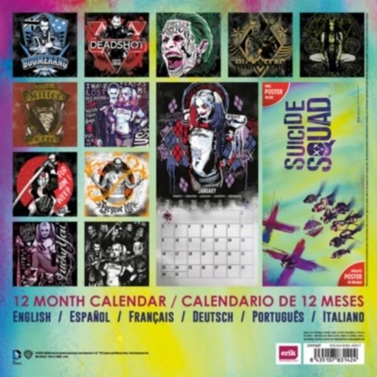 Suicide Squad Calendario 2017 con poster in omaggio
