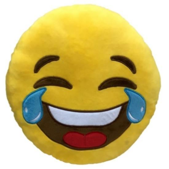 """Cuscino peluche Emoji """"Risata con lacrime"""""""