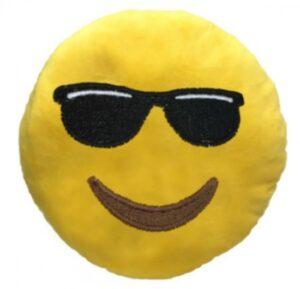 """Cuscino peluche Emoji """"Occhiali da sole"""""""