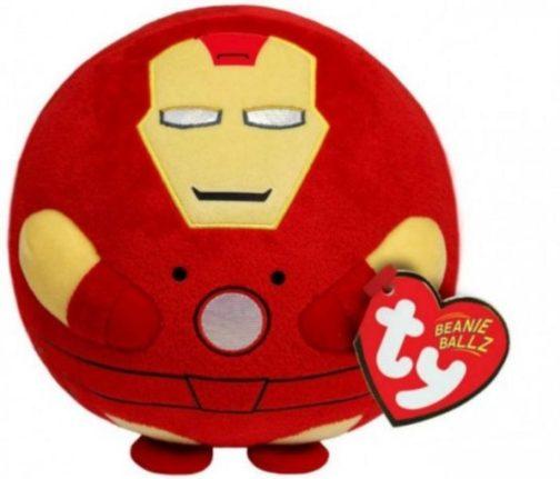 Peluche Beanie tondo Iron Man Eroi Marvel