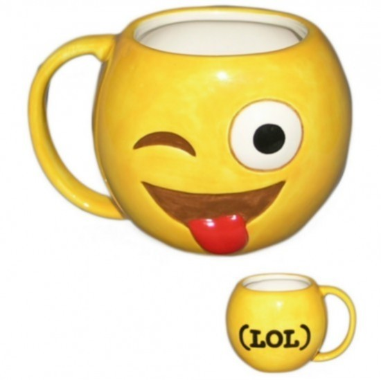 """Tazza Emoji """"Occhiolino e linguaccia"""""""