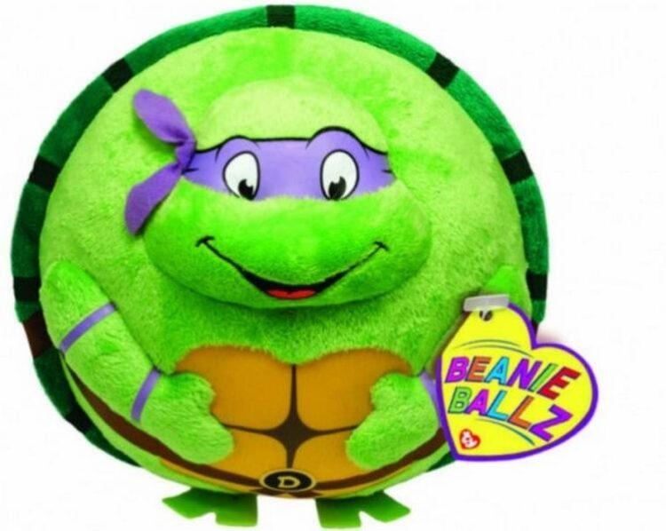 Peluche Beanie tondo Donatello Tartarughe Ninja