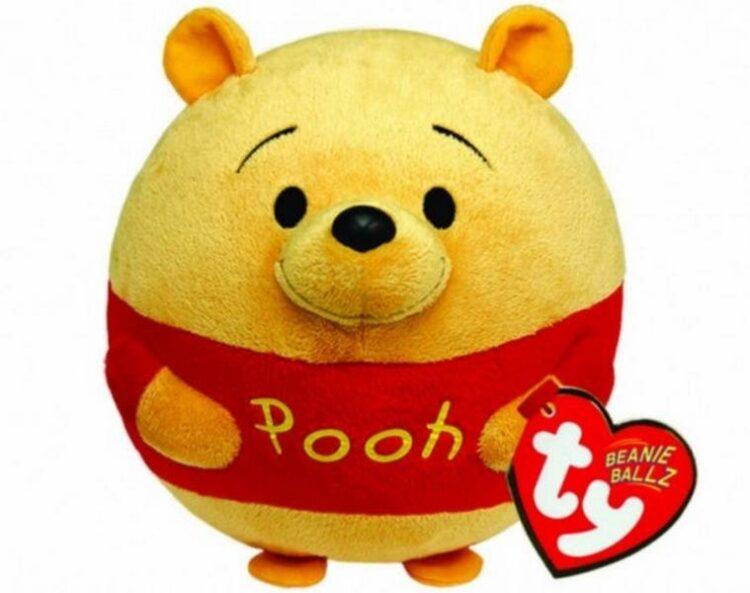 Peluche Beanie tondo Winnie The Pooh