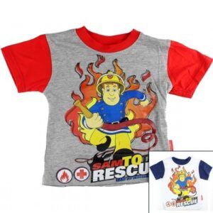 T-shirt Sam Il Pompiere 'Sam to Rescue'