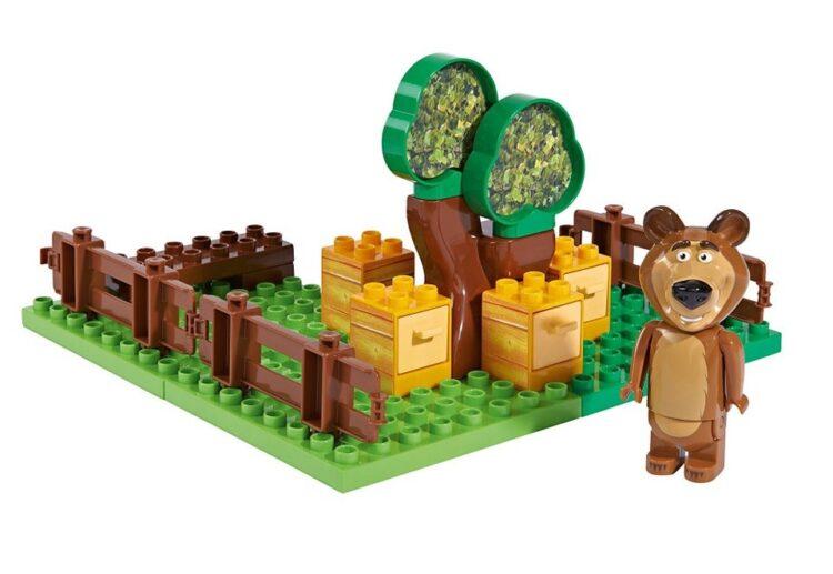 Playset mattoncini giardino del miele di Orso Masha e Orso