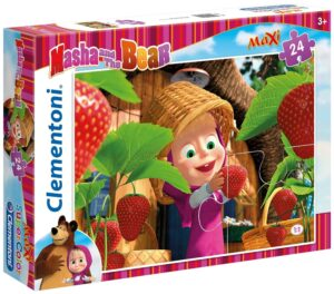 """Puzzle Masha e Orso Maxi 24pz """"Strawberry"""" Clementoni"""