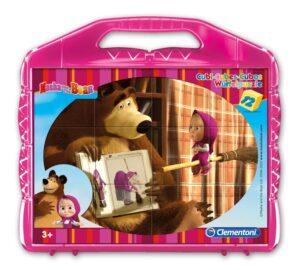Valigetta puzzle 12 cubi Masha e Orso