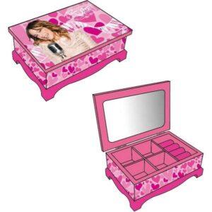 Portagioie in legno con specchio Violetta Disney