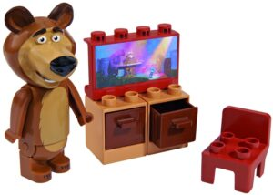 Set base costruzioni Masha e Orso: Orso e la TV