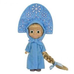 Bambola Masha in costume azzurro - Masha e Orso