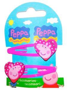 Fermagli per capelli Peppa Pig Cuore