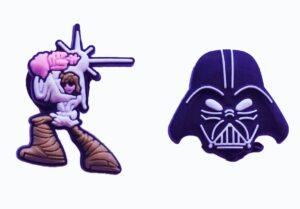 Set 2 Jibbitz per Crocs Star Wars Darth Vader e Luke Skywalker