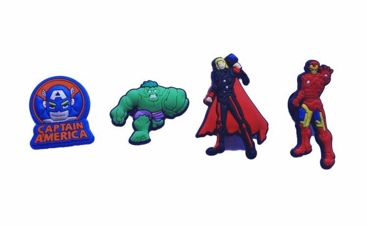 Set 4 Jibbitz per Crocs Avengers