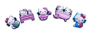 Set 5 Jibbitz per Crocs Hello kitty