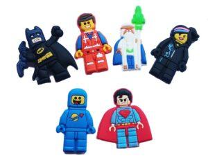 Set 6 Jibbitz per Crocs Lego Movie