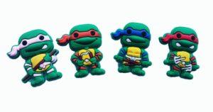 Set 4 Jibbitz per Crocs Ninja Turtles