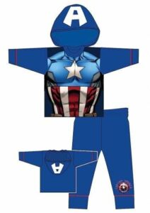 Pigiama cosplay Capitan America Marvel Avengers
