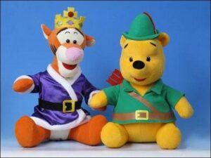 Peluche Winnie the Pooh e Tigro versione Robin Hood