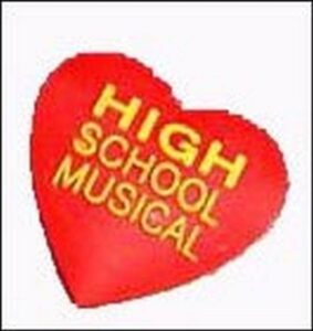 Pins per Crocs o braccialetti Cuore High School Musical