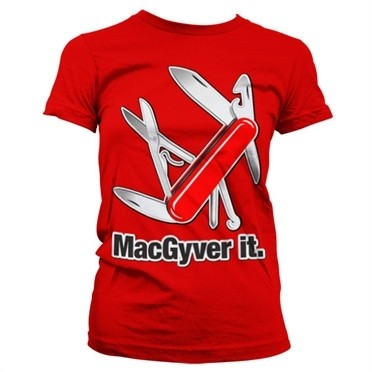 MacGyver It T-shirt donna