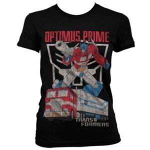 Optimus Prime Distressed T-shirt donna