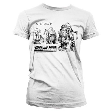 R2D2 Blueprint T-shirt donna