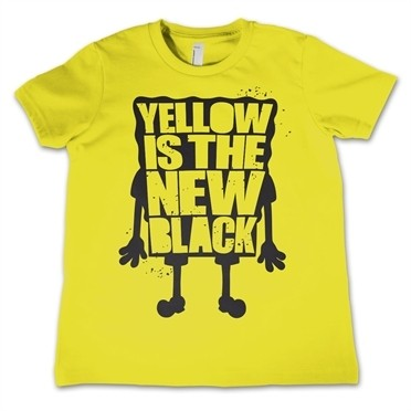Yellow Is The New Black T-shirt Bambino