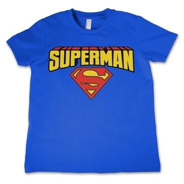 Superman Blockletter Logo T-shirt Bambino