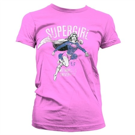 Supergirl Metropolis Distressed T-shirt donna